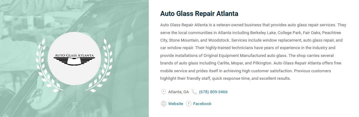 Voted Best Marietta Auto Glass Companies by Expertise.com
